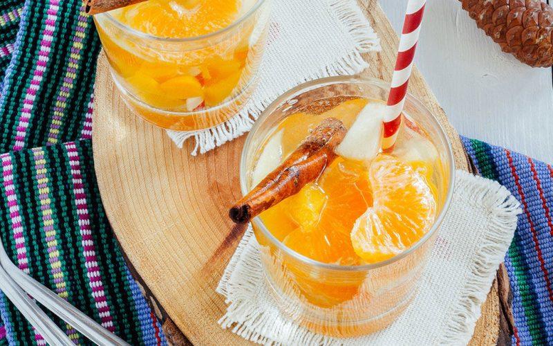 Ponche Mexicano de Cava y Mandarina para la cena de Navidad
