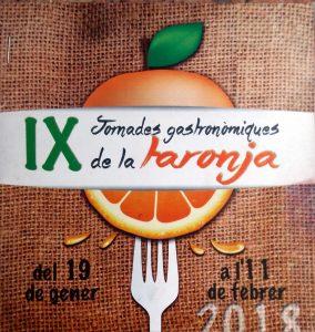Jornadas Gastronómicas de la Naranja 2018 en Restaurante Pinocchio (Burriana) con Naranja Km0