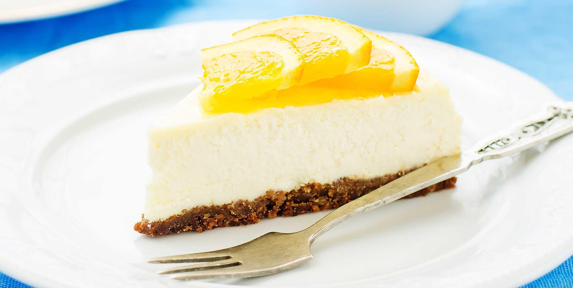 Tarta de Queso con Naranja y Miel