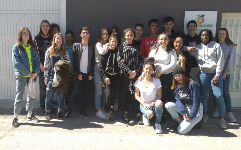 Visite des Champs d'Orange avec les étudiants de Lyon
