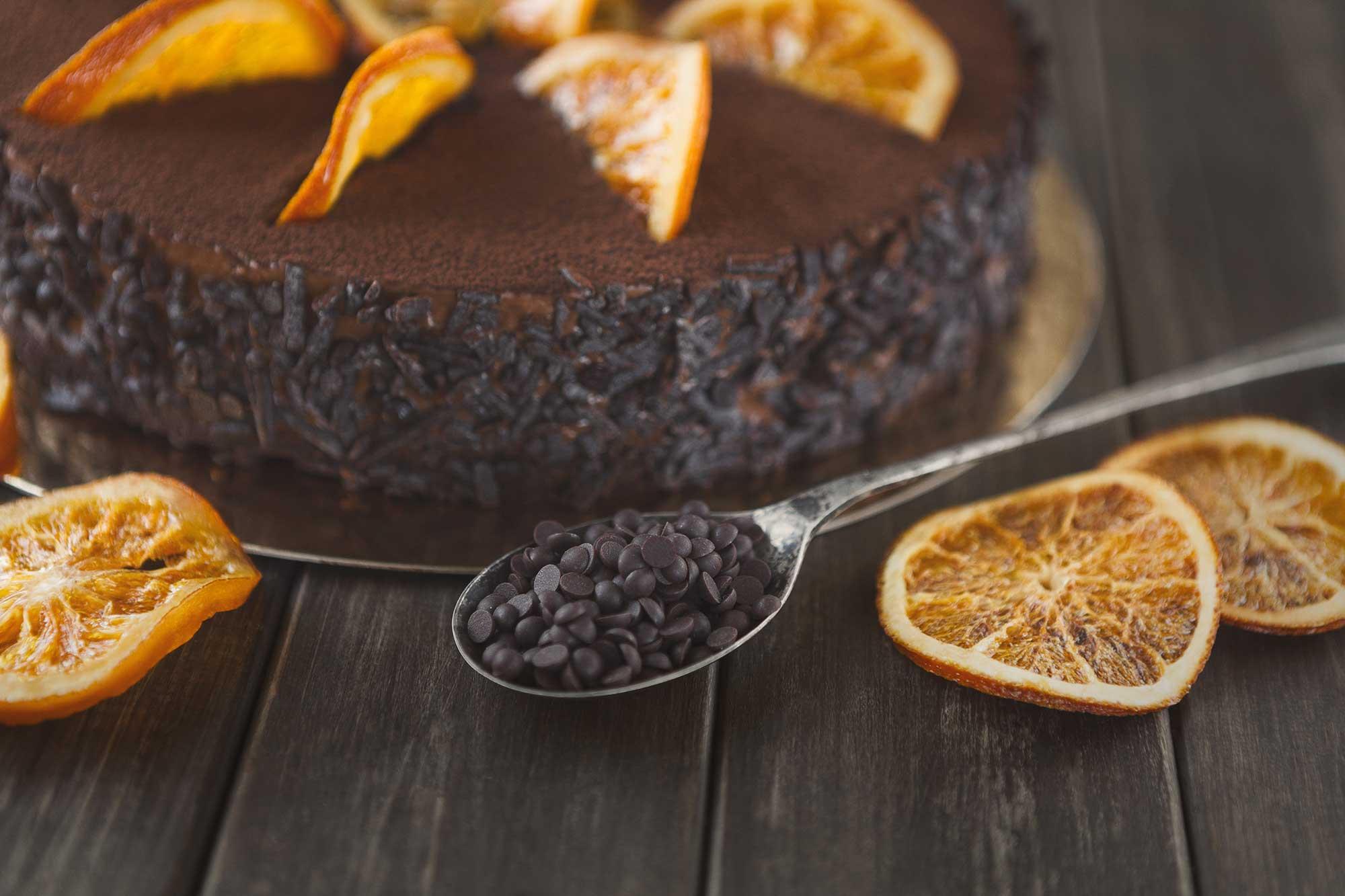 Brownie con Naranja natural y Avellana