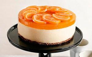 Tarta de queso fresco y #Naranja